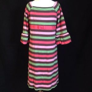 Gymboree Girls Striped Puff Sleeve Knit Dress 6